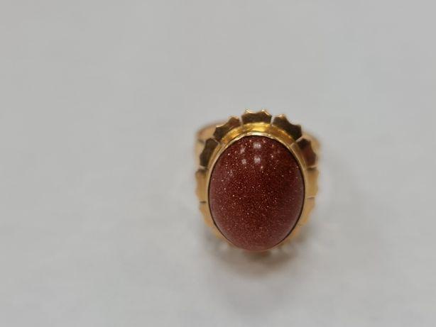 Piasek pustyni! Wiekowy złoty pierścionek damski/ 585/ 5.30 gram/ R13