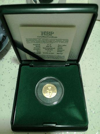 Złota moneta 25. rocznica śmierci Księdza Jerzego Popiełuszki