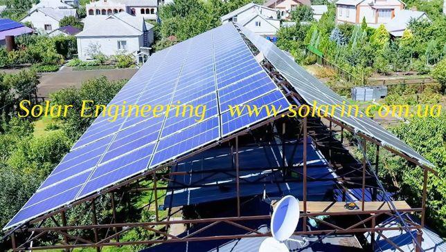 Солнечная электростанция! Солнечные панели батареи ФЭМ PV-модули!