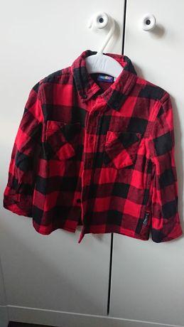 Koszula świąteczna dla chłopca czerwona kratka 98