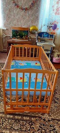 Детская кроватка трансформер с пеленальным столиком от 0 до 6 лет
