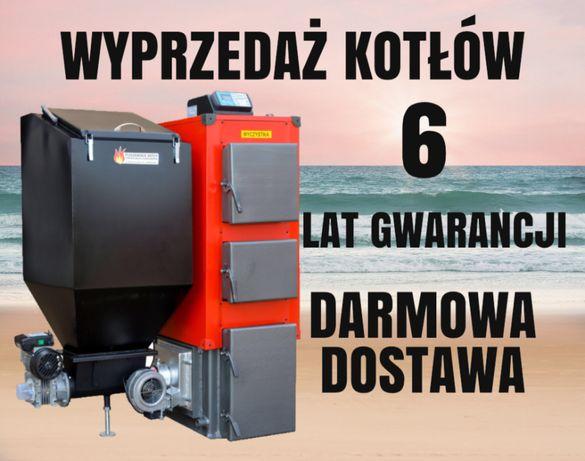 KOCIOŁ do 320 m2 Piec 38 kW z PODAJNIKIEM Kotły na EKOGROSZEK 35 36 37