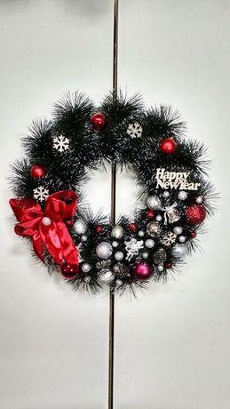 Новогодний венок ручной работы, новогодние украшения,декор,уют