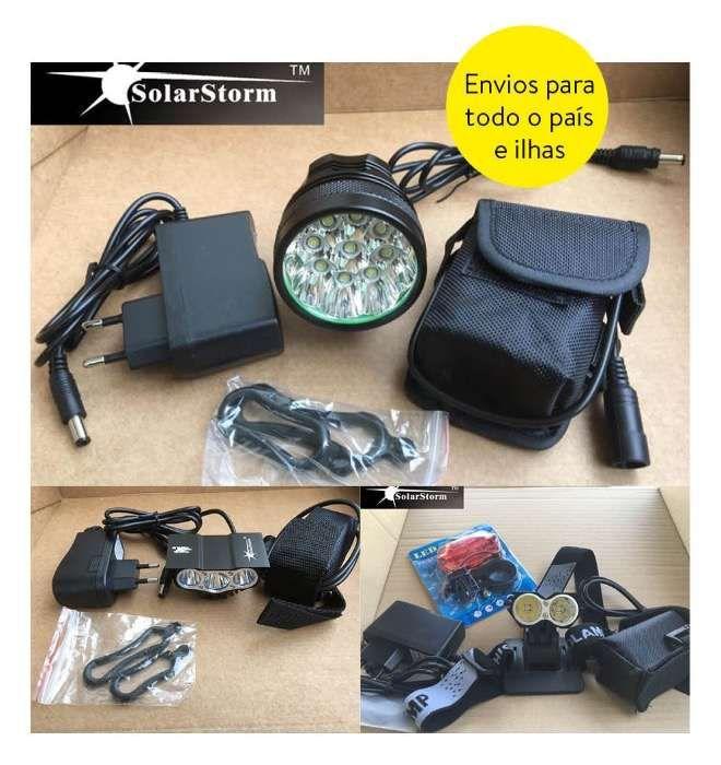 Lanternas Led para Bicicleta Solarstorm - Entrega ou envio imediato Sintra (Santa Maria E São Miguel, São Martinho E São Pedro De Penaferrim) - imagem 1