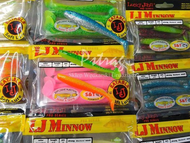 Lucky John Minnow smakowa i zapachowa przynęta, guma, ripper wędkarski