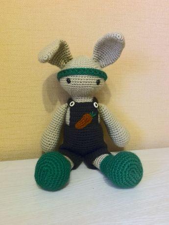 Амигуруми зайчик, вязаная игрушка ручной работы