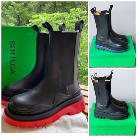 Bottega Veneta 36 37 38 39 40 ботинки женские кожаные купить в Украине