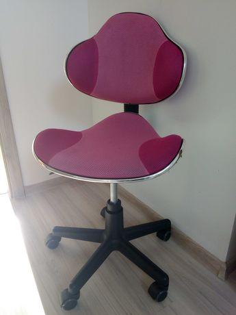 Krzesło obrotowe do biurka róż dla dziecka
