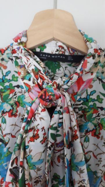 Bluzka koszula Zara Woman rozm.L 38/40 dobra tez na M żywe kolory