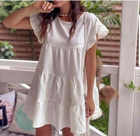 Vestido branco .