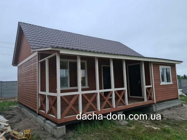 Дачные,каркасные,садовые домики!От 2900 грн. квадрат.