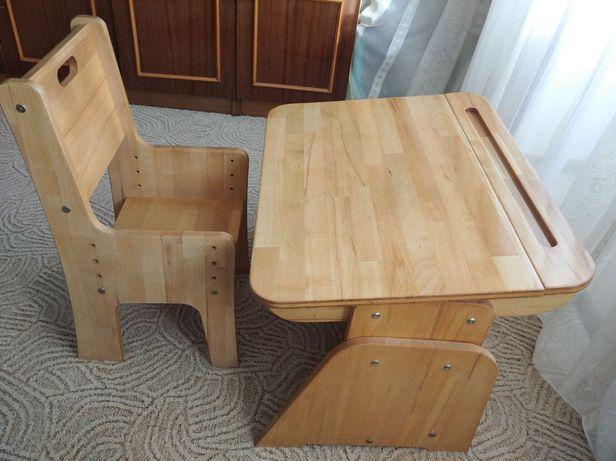 Детский стол из натурального бука