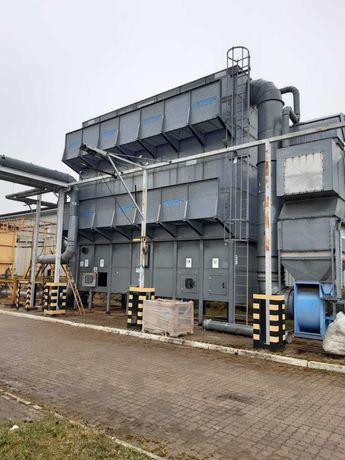 Wyciąg odciąg trocin pyłu stacja filtracji Nestro