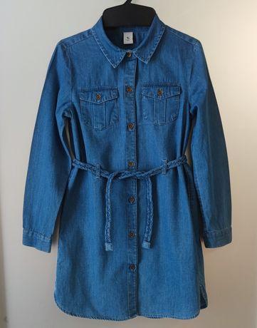 Джинсова сукня туніка для дівчинки платье плаття 122 р 7-8 років