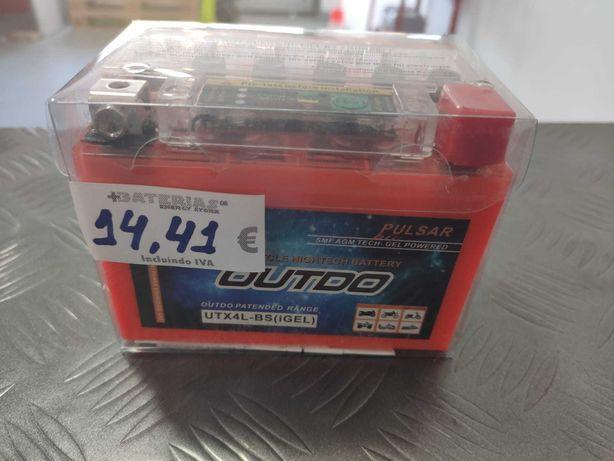 Bateria AGM Hightech Para Mota 12V 3,6Ah 50A Ref. UTX4L-BS