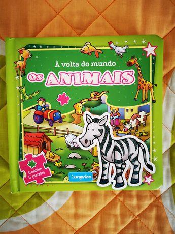 Livro de criança com 6 puzzles