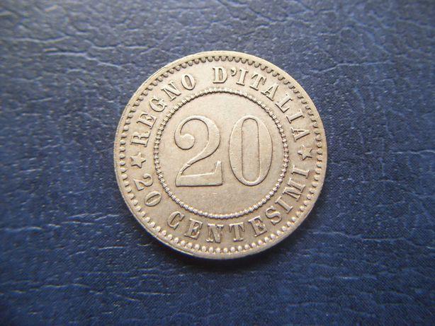 Stare monety 20 centesimi 1894 WŁochy