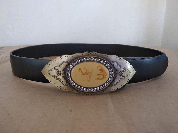 Ремень кожаный с шикарной пряжкой Max Mara, Benetton, Chanel