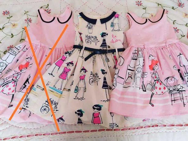 Next, Zara, Mayoral sukienka 104, Paryzanka, motylki, laleczka koronka