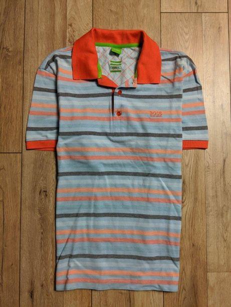 HUGO BOSS polo idealne unikat ideal koszulka męska logo logowana L XL