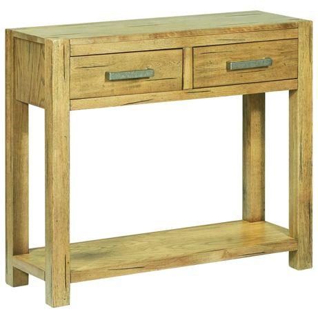 vidaXL Mesa consola 83x30x73 cm madeira de carvalho rústica 284267