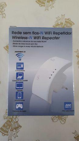 Repetidor WiFi (wireless e cabo) - 300 Mbits