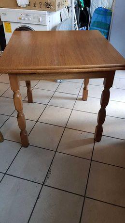 Stół dębowy do rozkładania, 80x 80cm