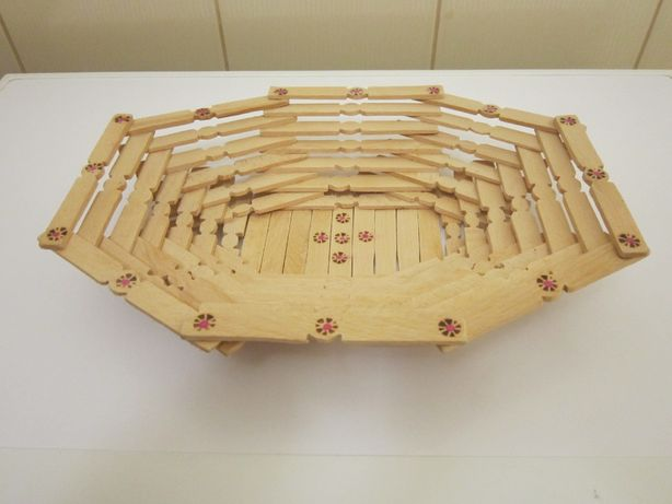 Новая! Подарок! Деревянная хлебница корзинка конфетница