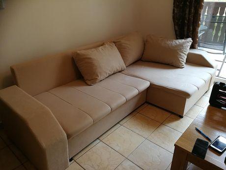 Sofa Naroźnik z funkcją spania plus poduszki