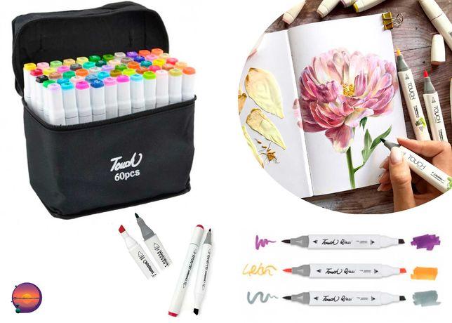 Набор двухсторонних маркеров Touch для рисования 36, 48, 60, 80 штук