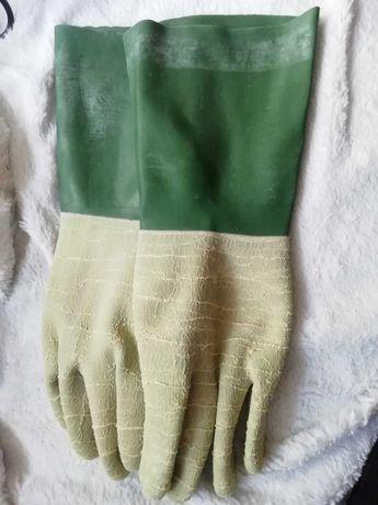 Rękawice lateksowe ochronne, odporne chemicznie 5szt zestaw