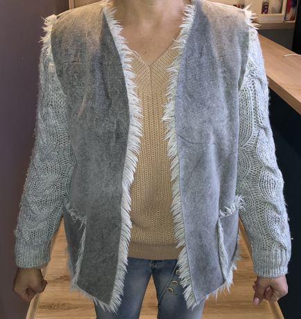 Bluza swetrowa szara