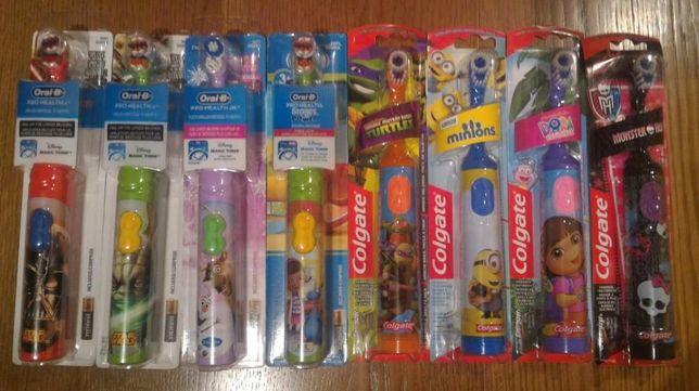 Детские зубные электрощетки Oral-B и Colgate с любимыми мульт-героями