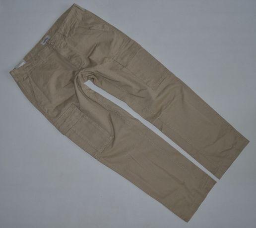 Dressman NOWE bojówki pas 90 cm 36/32 beżowe spodnie