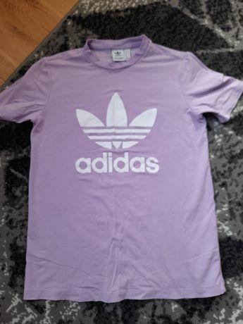 Tshirt adidas L liliowy
