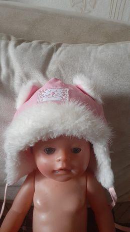 Тёплая шапочка для малышки