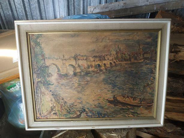Obraz olej Karlowy Most w Pradze Oskar Kokoschka reprodukcja niemiecka
