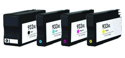 Conjunto 4 Tinteiros Compatíveis HP - 932/933 XL -BK/C/M/Y