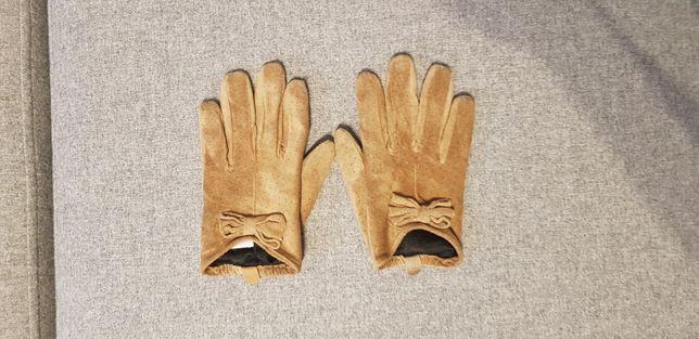 Rękawiczki skórzane damskie S/M+krajacz do jajek GRATIS