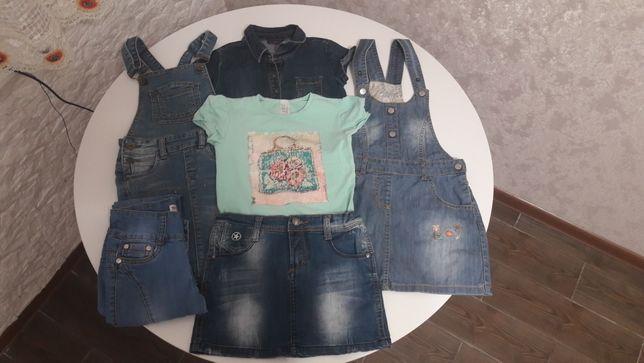 К-кт джинсовой одежды для девочки рост 116-123