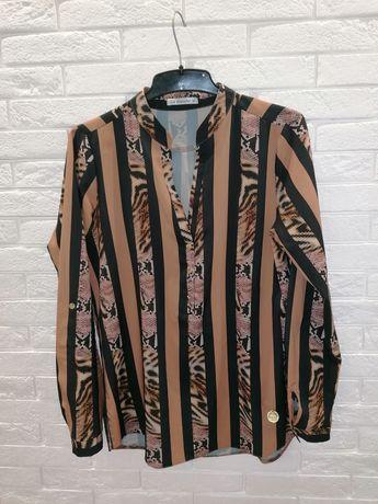 Koszula w printy panterki