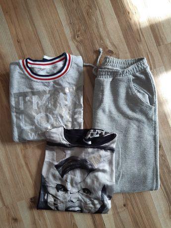 Dwie koszulki i spodnie roz. 158-164
