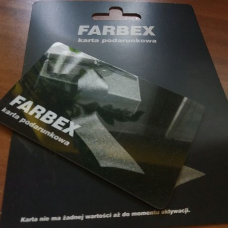 karta podarunkowa FARBEX Ciechanów