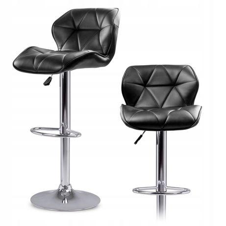Барный регулируемый стул Castel черный/белый