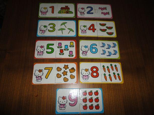 Puzzle Hello Kitty - Números de 1 a 9