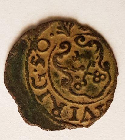 Szeląg miejski Krystyna 1650 rok