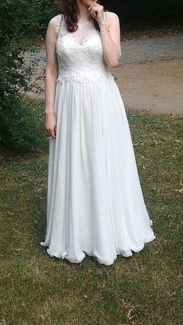 Suknia slubna ciazowa r.38 Agora