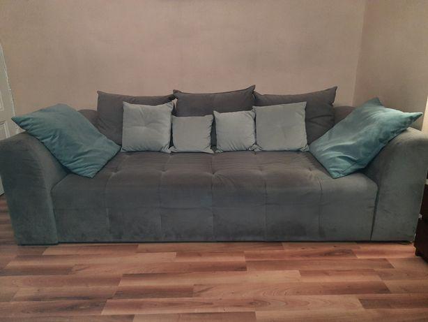 Kanapa sofa rozkładana szara BRW