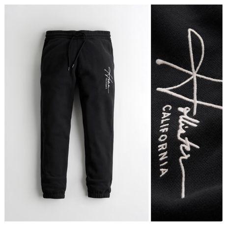Dresy Hollister Jogger Pants M czarne spodnie z ściągaczem NOWE WAWA