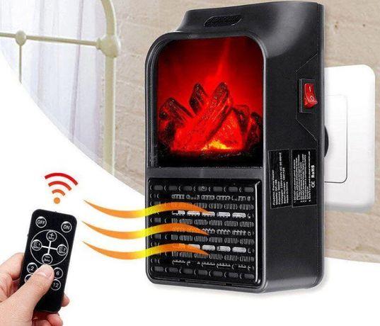 Портативний обігрівач керамічний Flame Heater з пультом 500 Вт